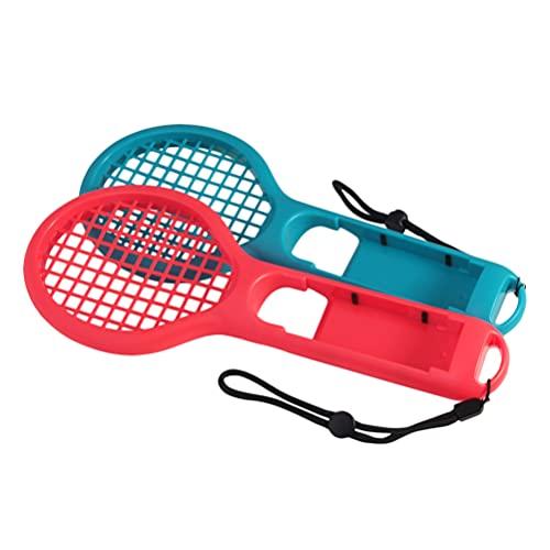 Generic 2 raquetas de tenis para juego de deportes compatible para el interruptor de tenis juego de agarre