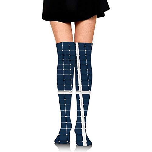 Calcetines,Imagen De Un Atuendo De Panel De Energía Solar Unisex Calcetines Suaves Y Cómodos Para El Deporte Running Climing,65cm