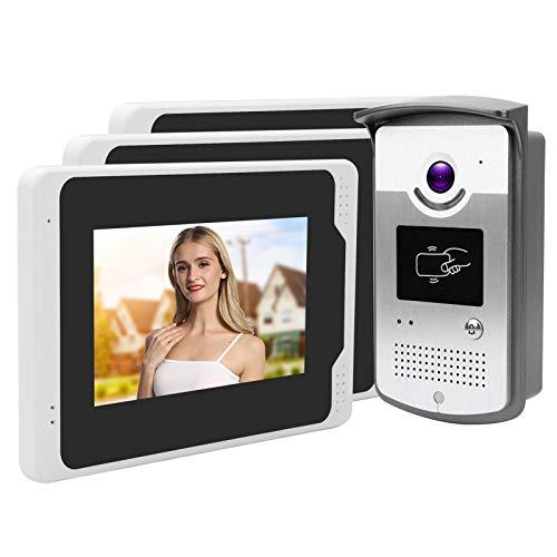 Cámara de videoportero con control remoto Monitores de teléfono de puerta TFT de 7 pulgadas a prueba de(European regulations)