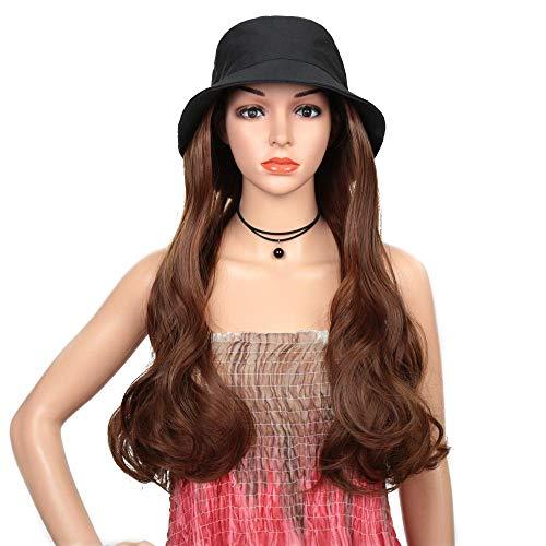 pruiken Visser hoed grote golf lang krullend pruik dames hoge temperatuur chemische vezel kap uit een stuk
