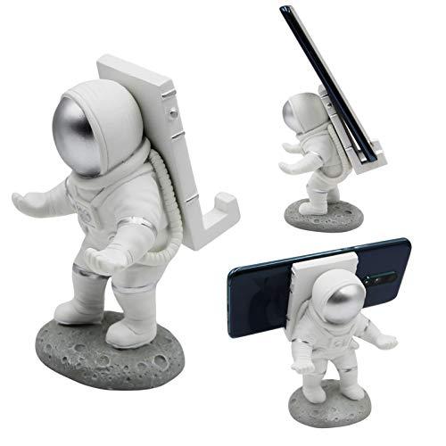 RARITYUS Kreativer Astronauten-Handy-Ständer, lustig, universal, für Schreibtisch, Tablet, Handy, Stift, Brillen-Halter, Heimbüro-Dekoration