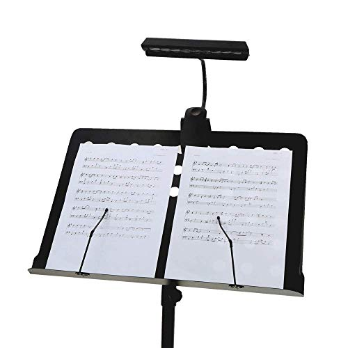 Portable Flexibele Buigbare 9 Leds Orchestra Piano Music Score Light Stand Clip Desk Leeslamp Bright Clamp LED bureaulamp
