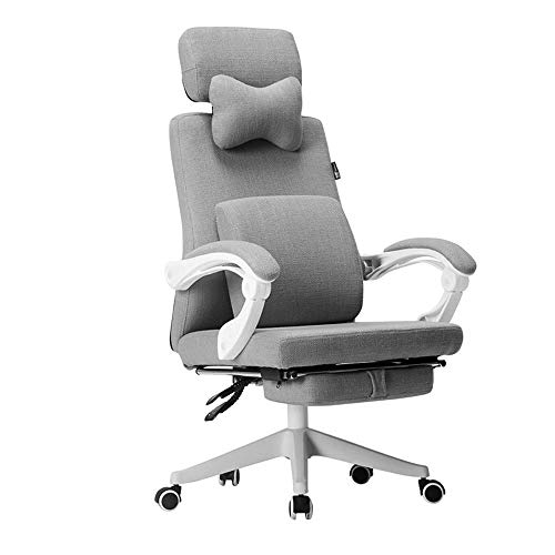Furniture Decoration Gaming Chair Scandinavian Style Home Fabric Computer Chair Ergonomic Computer Game Chair Seat Height Adjustment Recliner Swivel Rocker E-Sports Office Chair With Headrest and L