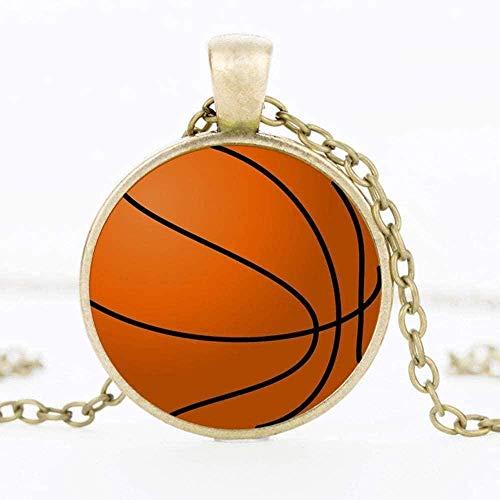 Yaoliangliang Collar de Hombre Baloncesto Baloncesto béisbol fútbol P o Cristal Colgante Collar joyería