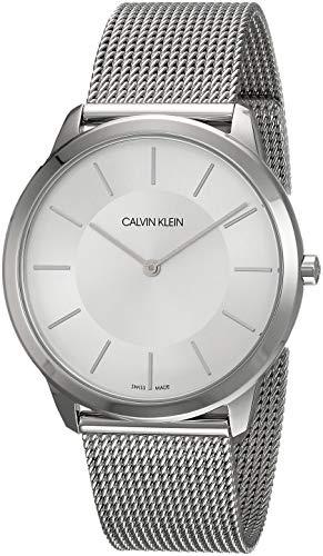 Calvin Klein K3M21126 Herren-Armbanduhr XL minimal Analog Quarz Edelstahl