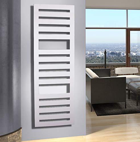 Badheizkörper Design Zebra 3, HxB: 175 x 60 cm, 1302 Watt, weiß (Marke: Szagato) Made in Germany/Bad und Wohnraum-Heizkörper (Mittelanschluss)
