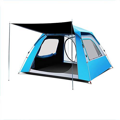 AZ ZA Tende per 2-4 Persone per Campeggio all\'aperto, Tenda per Famiglie Quick Setup, Tenda per Ventilazione Anti-UV Impermeabile a Doppio Strato, Tessuto Speciale per Proteggere la Privacy