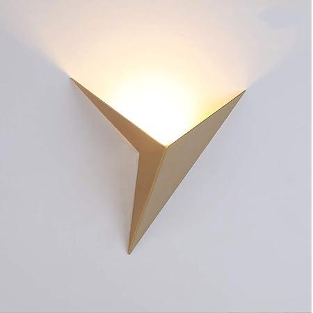Zi Yang Applique À l'intérieur LED 3W Blanc Chaud Créatif Triangle Art Appliques murales Plus élégant Moderne Applique Métal Abat-Jour Chambre Salon Étudier Hôtel Salle Escalier Éclairage Mural,d'or