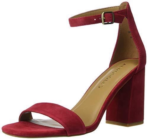 Aerosoles Women's Long Beach Heeled Sandal, Red Suede, 11 M US