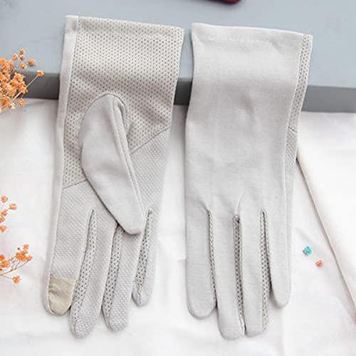 DEORBOB Señoras Protector Solar Verano Tie-Dye Antideslizante Cunas para los Dedos Montar Sensación Fresca Anti-Ultravioleta Color sólido Guantes de algodón Pantalla táctil Corta Sección de inducción