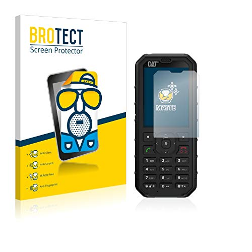 BROTECT 2X Entspiegelungs-Schutzfolie kompatibel mit Caterpillar Cat B35 Bildschirmschutz-Folie Matt, Anti-Reflex, Anti-Fingerprint