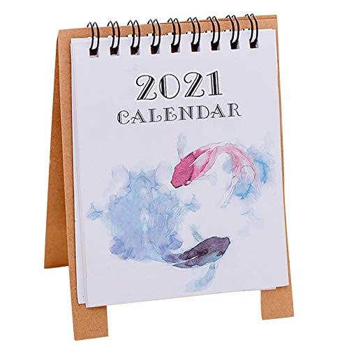 Kecar 2021 Calendar Desk Calendar Desktop Timetable Convenient and Compact Schedule Decoration & Hangs
