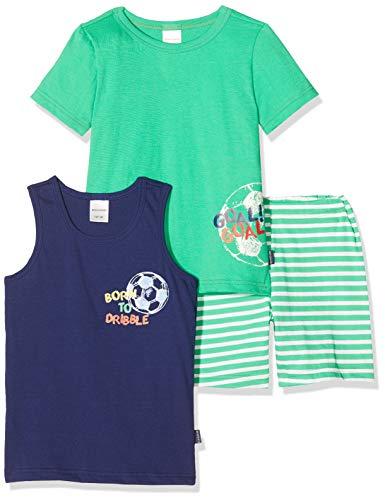 Schiesser Jungen Boys World Kn 3-Teilig Zweiteiliger Schlafanzug, Mehrfarbig (Sortiert 1 901), (Herstellergröße:104) (2er Pack)