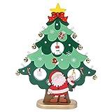 PRETYZOOM Holzbaum mit Miniaturglocken Lustige Leuchten Tischplatte Weihnachtsbaum Desktop Holz...