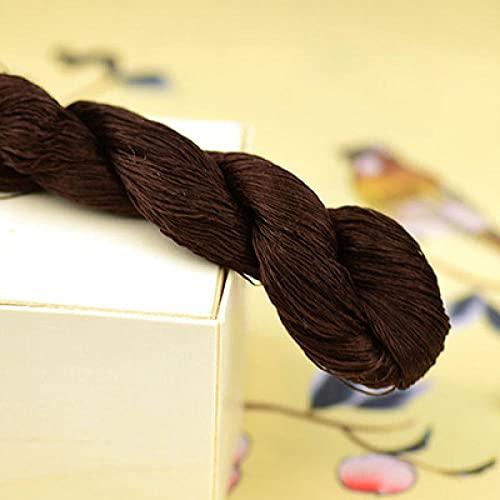 Nuevo bordado de seda de 400 m / hilo de seda 100% / hilo de seda bordado Spiraea bordado a mano bordado de punto de cruz-6-6