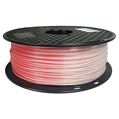 PLA Filamento cambiante de color 1.75 mm, filamento de impresora 3D, material termocrómico, carrete de 1 kg-Vermilion a blanco
