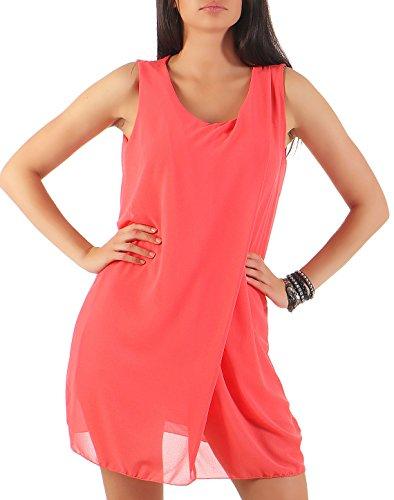 malito dames zomerjurk kort | elegante jurk voor aan het strand | klassieke vrijetijdsjurk | Partyjurk - Basic 6878