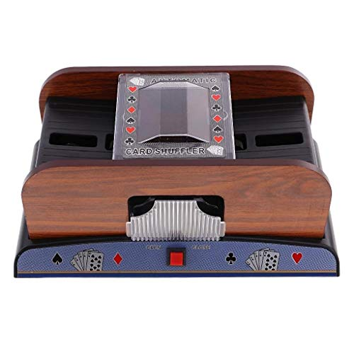 TX GIRL Card Shuffler 2 Deck Automatic Card Shufflers Battery-Operated Casino Equipment for Card Game Lover Gift (Size : 2 Deck)