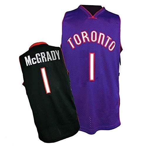 Camiseta de Baloncesto Tracy Mcgrady, 1# Toronto Raptors Chaleco De Jersey De Swingman Transpirable Con Bordado Retro Para Hombre, T-Mac Camiseta De Temporada 98-99 Top Transpirable,Purplea-XXL
