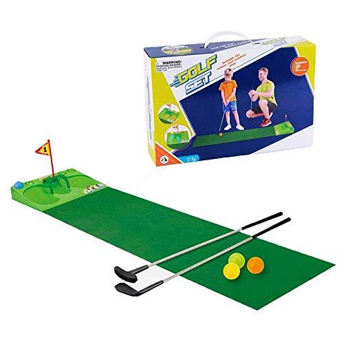 FXQIN Golf Mettere l'allenatore, Tappetini Putting da Golf Attrezzatura da Allenamento da Golf per Bambini Set di Palline da Golf...