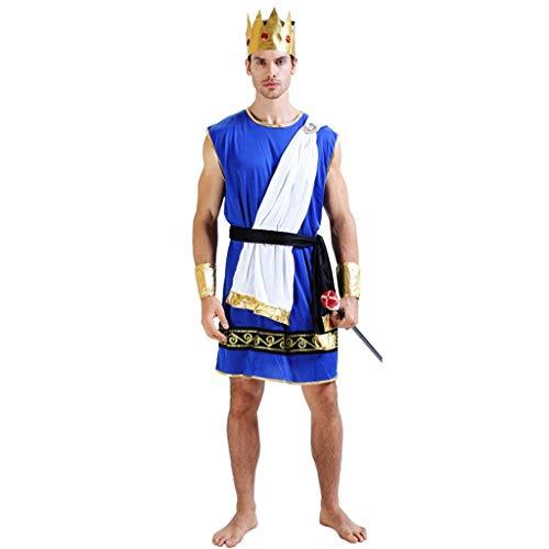 LFOZ Disfraces de Cosplay de Halloween, disfraces de Zeus for hombres adultos, disfraces de disfraces, incluidos sombreros, chales, protectores de manos, cinturones, indumentaria (adecuado for una alt