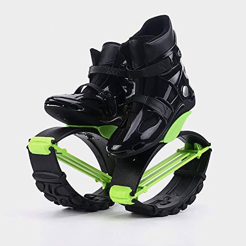 VCJNMQ Zapatos Rebote, Unisex Zapatos Fitness, Zapato Adolescentes De Rebote, La Aptitud Saltos Zapatos para Hacer Ejercicio, Interiores Y Exteriores,Green-2-L(36-38)