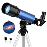 TELMU Space Astronomical Telescope for Kids with Lightweight Tripod & 2 Options Eyepiece Educational Science Reflector for Astronomy Beginners
