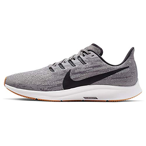Nike Air Zoom Pegasus 36 Men's Running Shoe Gunsmoke/Oil Grey-White-Gum Light Brown Size 10.5