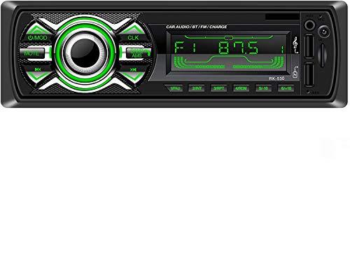 Radio Coche, LSLYA Radio Coche Bluetooth, admite Llamadas Manos Libres, Radio USB Coche Soporte Radio FM, Radio para Coche con Doble USB, Carga rapida, Control Remoto del Volante