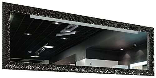 GaviaStore – Julie Nero 140x50 cm - Specchio moderno da parete (18 formati e colori) lungo figura intera alto grande decor soggiorno modern sala paret camera bagno ingresso