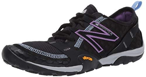 New Balance Women's Minimus 10 V1 Trail Running Shoe, Black/Neo Violet, 8.5 W US