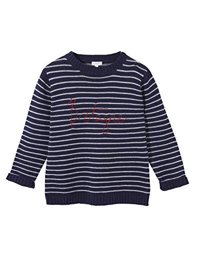 Gocco De Rayas Jersey, Azul (Marino S02jjeca101a4), 9 años (Tamaño del Fabricante: T: 9-10) para Niños