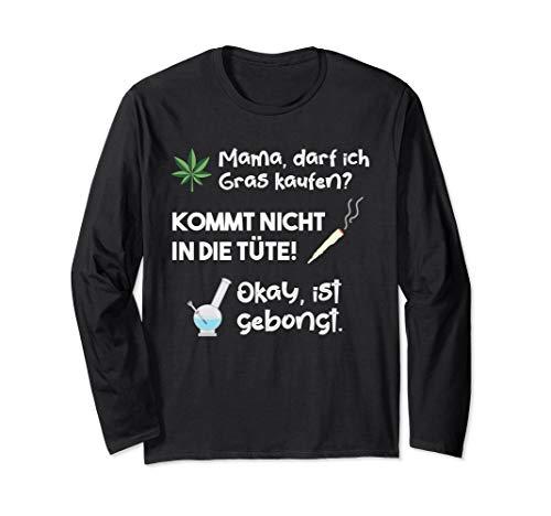 Lustiges Cannabis Marihuana Weed Wasserpfeife Langarmshirt