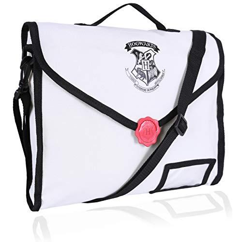 Beige/Black Satchel Bag Letter Design HOGWARTS
