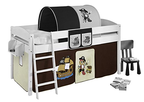 Lilokids Vorhang Pirat Braun Beige - für Hochbett, Spielbett und Etagenbett