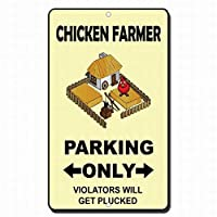 チキン農園駐車場だけの違反者は、標識標識金属標識を取得します