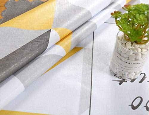 Traann Plastic tafelkleed schoonmaken, vierkant wipe clean, vinyl/kunststof tafelkleed PVC salontafel tafelkleed perzikblad 137*137