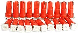 Gavita-Star - New 20 PCS Red 37 58 70 73 74 T5 Dashboard 5050SMD LED Mini-Wedge Bulb Light ME3L