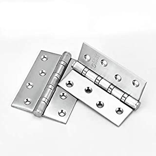 (Pack of 2)304 Stainless Steel Black Open Bearing Mute Hinge Slotted Door Wooden Door Hinge with Screws