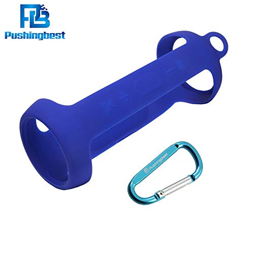 Pushingbest Carrying Case for JBL Charge 3 Speaker Durable Silicone Extra Carabiner Offered for Easy Carrying Blue