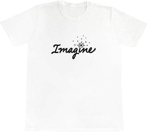 /'Imagine Text/' Men/'s TA013927 Women/'s Cotton T-Shirts