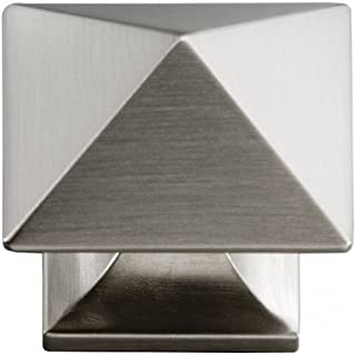 Hickory Hardware P3015-SS 1-1/4-Inch Square Studio Collection Cabinet Knob, Stainless Steel by Hickory Hardware