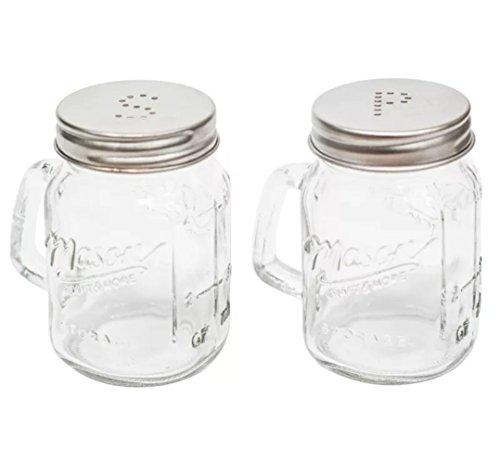 Glazen Mason Jam Jars - Zout en Peper Shakers