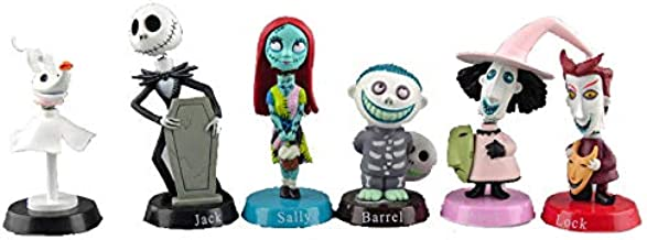 S Party Supply Nightmare Before Christmas Jack Skeleton 6 Piece Birthday Cake Topper Set Featuring 2