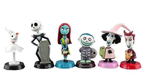 S Party Supply Nightmare Before Christmas Jack Skeleton 6 Piece Birthday Cake Topper Set Featuring 2' Figure Set