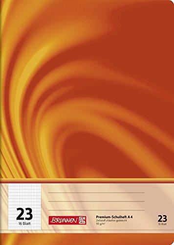 Brunnen 104472302 Schulheft A4 Vivendi (16 Blatt, 5 x 9 mm rautiert, Lineatur 23)