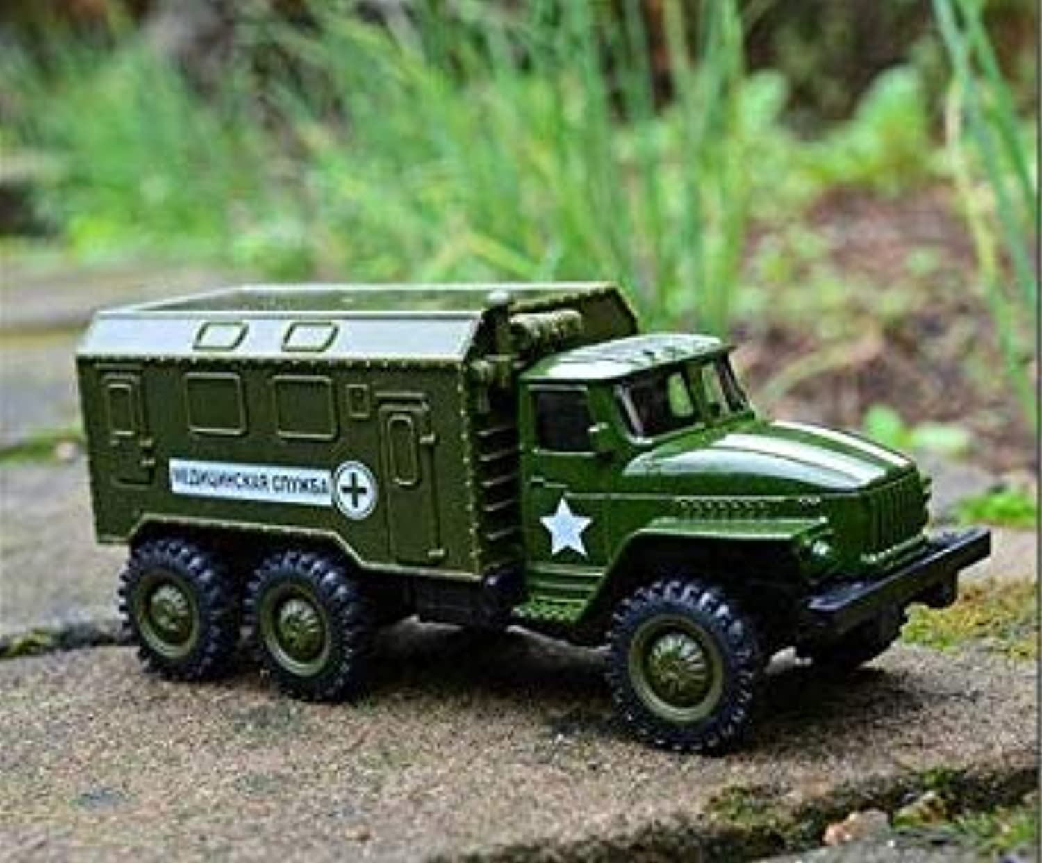 1 64 Alloy Pull Back Military Vehicle Model,high Simulation Military Truck Toy,Metal diecasts,Toy Vehicle, 5