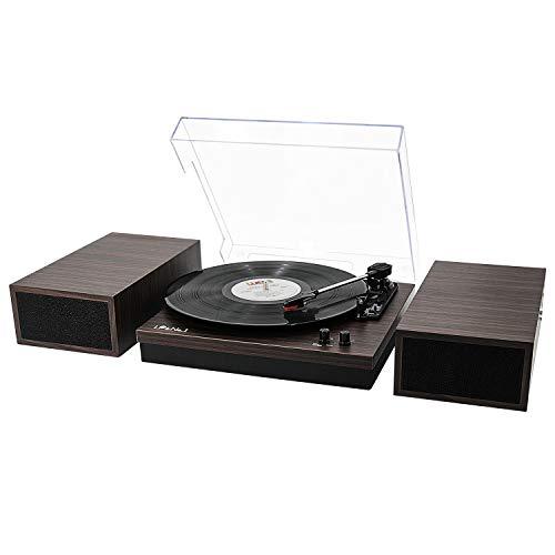 LP&No.1 Retro Belt-Drive Bluetooth Turntable