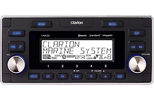 clarion marine stereos Clarion M608 Marine In-Dash 4-zone SIRIUS/XM-ready Digital Media Receiver with Bluetooth
