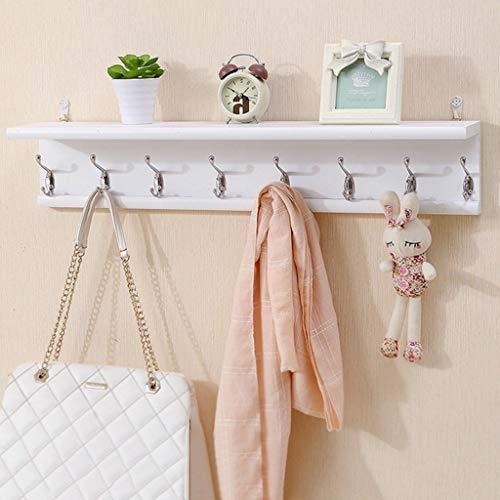 YLCJ Jas hanger wit creatieve houten kapstok multifunctionele woonkamer slaapkamer decoratie haak jas haak sleutel opknoping kapstok staande (grootte: 6 haken)